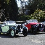 Classic cars in Glenbank House Hotel car park
